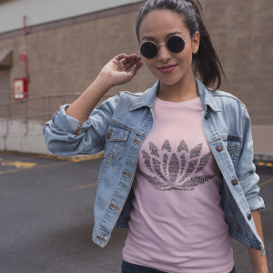 Lotus_mockup-of-a-girl-wearing-a-t-shirt-with-a-denim-jacket-in-a-parking-lot-a11733